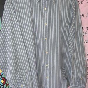 Michael Kors NWT Mens Shirt XL Blue/Black Striped